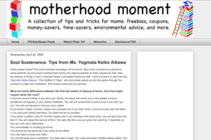 "Yogmata was introduced on the online magazine ""Motherhood Moment online"""